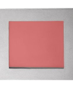LED Wall Light Recessed Square Plain Silver 1.2W in Red 9cm Vibe Lighting