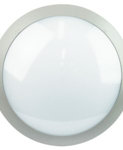 LED Oyster Exterior Round Grey 14W in 4000K 29cm Duro Oriel Lighting