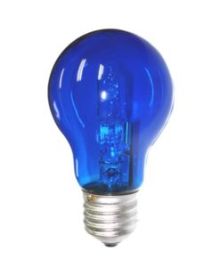 Halogen Lamp Dimmable B22 28W in Blue 10cm CLA Lighting