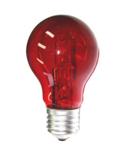 Halogen Lamp Dimmable B22 28W in Red 10cm CLA Lighting