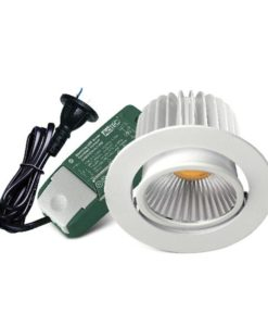 LED Downlight 9W Dimmable Gimble in White 6000K 10cm Ecostar Sunny Lighting