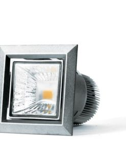 LED Downlight 7W Dimmable in Silver 3000K 6cm Cube Brightgreen