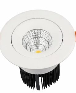 LED Downlight 30W Round Matt White in 3000K 14cm Orbit UGE