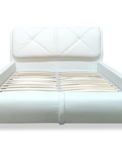 CLEARANCE - Eliza Queen Bed - Leather - White