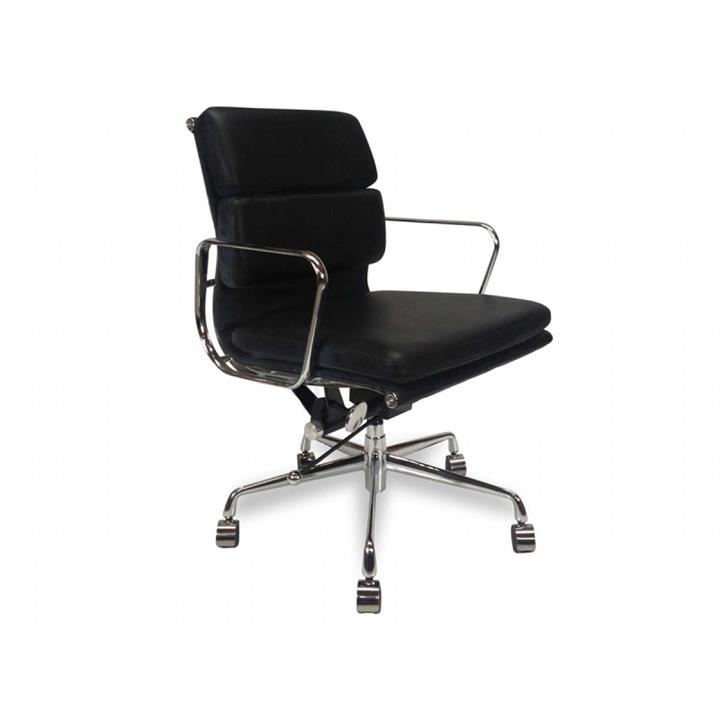 Soft Pad Management Boardroom Office Chair - Eames Replica - Black