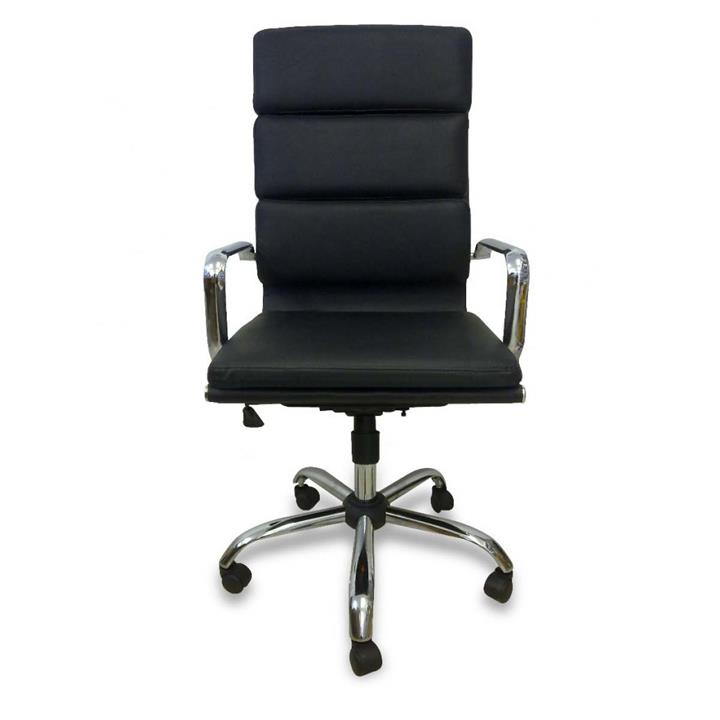 Soft Pad Executive Boardroom Office Chair - Eames Inspired - Black