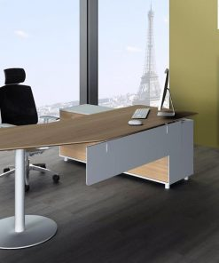 Elite Executive Office Desk Left Return -Walnut
