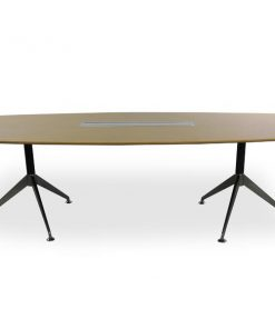 Spyder Boardroom Office Table 2.4m - Zebra Oak