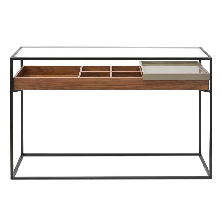 Clifton Metal Frame Console - Walnut