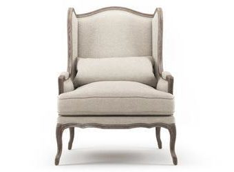 Wingback French Provincial Armchair - Antique & Rustic