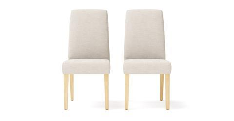 Grace 2x Dining Chair - Classic Cream and Natural Legs