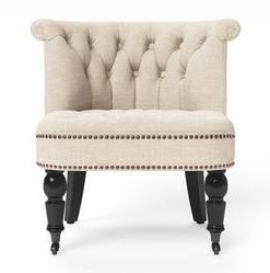 Helene® Accent Chair - French Beige with Black Legs