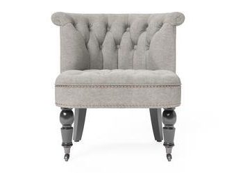 Helene® Accent Chair - Stone Grey with Black Legs