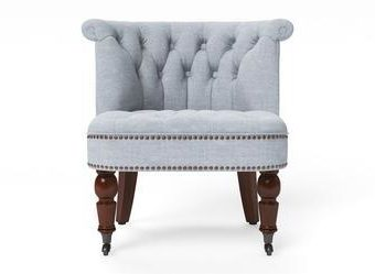 Helene® Accent Chair - Heron Grey with Brown Legs