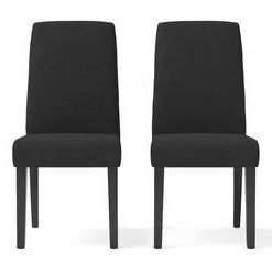 Grace 2x Dining Chair - Night Black and Black Legs