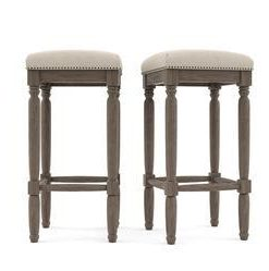 Buy Clovis Set of 2 Bar Stools High Online - Brosa