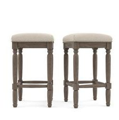 Buy Clovis Set of 2 Bar Stools Low Online - Brosa