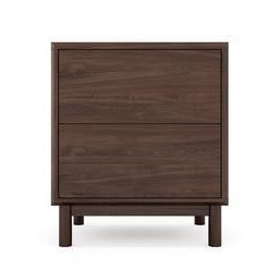 Buy Cato Bedside Table Two Drawers Online - Brosa