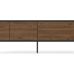 Prato Large Entertainment Unit - Dark Grey and Toffee
