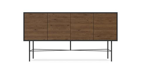 Prato Sideboard - Dark Grey and Toffee