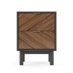 Parc Side Table - Dark Oak with Dark Grey Legs