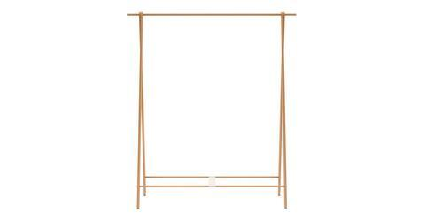 Wooden Clothes Hanging Rack | Portable Free Standing Clothing Rack