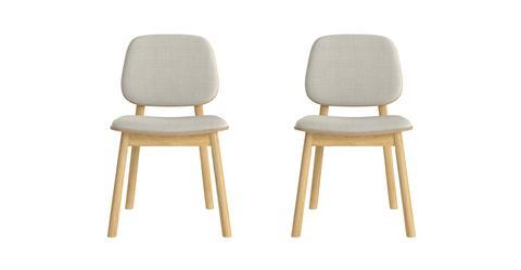 Matsumura 2x Dining Chair with Cushion - Oak