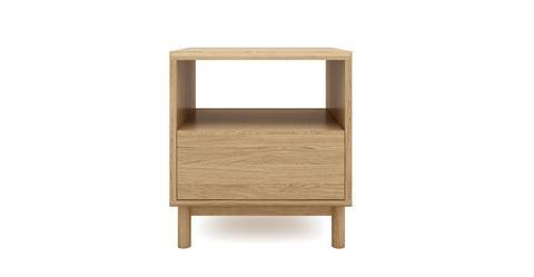 Cato Bedside Table One Drawer - Oak