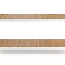 Avoca Shoe Rack - Oak with White Frame