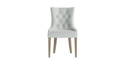 Espen® Scoop Back Dining Chair - Porcelain Blue and Wire Brushed Wax Legs