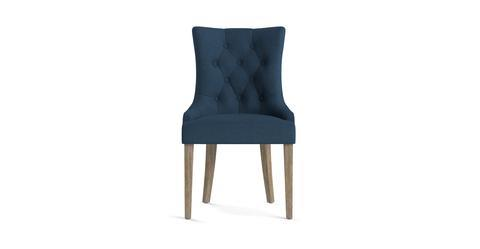 Espen® Scoop Back Dining Chair - Atlantic Blue and Wire Brushed Wax Legs