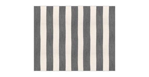 Devi Large Wool Rug 240 x 300cm - Stone Grey and White Ice