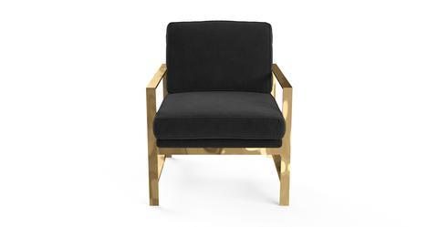 Lisette Armchair - Ebony Black