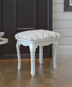 vidaXL Dressing Stool Warm White NOT FOR UK