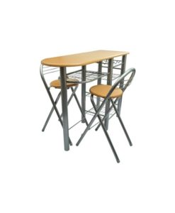 vidaXL Kitchen / Breakfast Bar Table and Chairs Set Wood