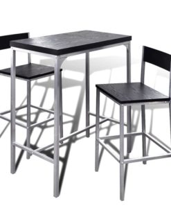 vidaXL Counter Height Breakfast Bar Set
