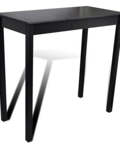 vidaXL Bar Table Dining Black 115 x 55 107 cm