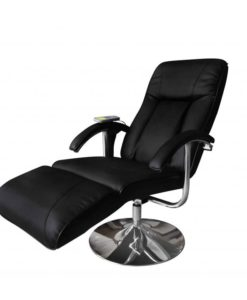 vidaXL Electric TV Recliner Massage Chair Black