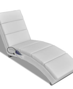 vidaXL Electric Massage Chair Functional White