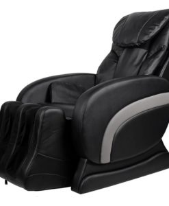 vidaXL Electric Artificial Leather Recliner Massage Chair Black