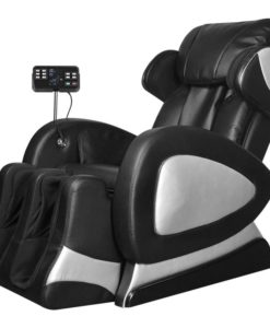 vidaXL Black Electric Artificial Leather Recliner Massage Chair Super Screen