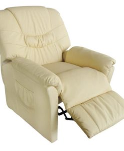 vidaXL Massage chair Tilano creme
