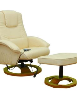 vidaXL Massage chair Resoga with footrest creme