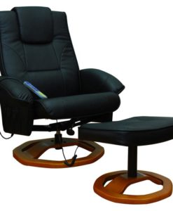 vidaXL Massage chair Resoga with footrest black