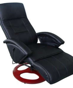 vidaXL Black Electric Massage Chair Seat Height 46cm