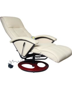 vidaXL Electric Massage / TV chair crème/white