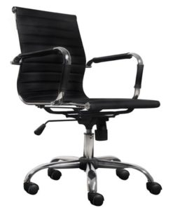 vidaXL Black Artificial Leather Office Chair