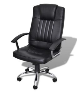 vidaXL Luxury Office Chair Quality Design Black 65 x 66 107-117 cm