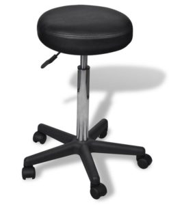 vidaXL Office Stool black