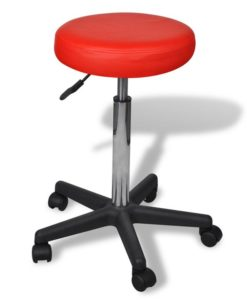 vidaXL Office Stool red